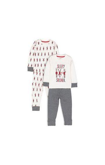 Mothercare   Heritage Sleepy Soldier Pyjamas - 2 Pack