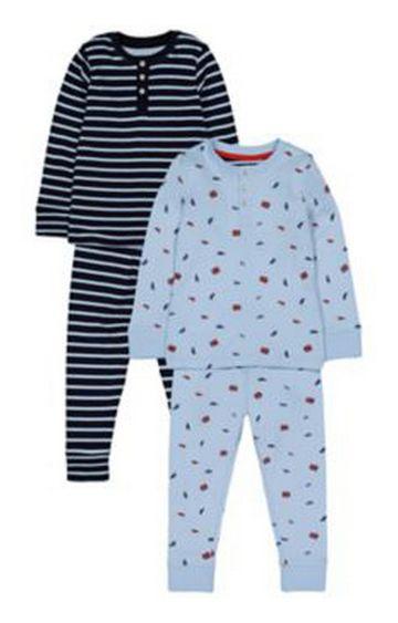 Mothercare | Heritage Bus Stripe Pyjamas - 2 Pack