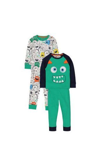 Mothercare | Monster Pyjamas - 2 Pack