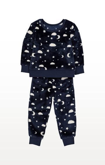 Mothercare | Moon And Clouds Fluffy Pyjamas