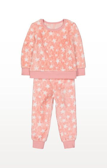 Mothercare | Pink Fluffy Star Pyjamas