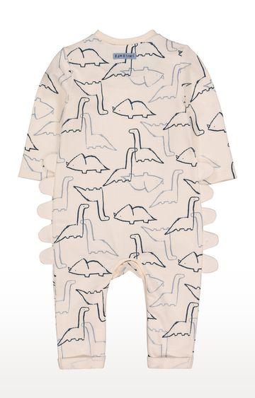 Mothercare | Cream Dinosaursaur All In One