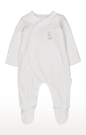 Mothercare | My First Giraffe Stripe Velour All In One
