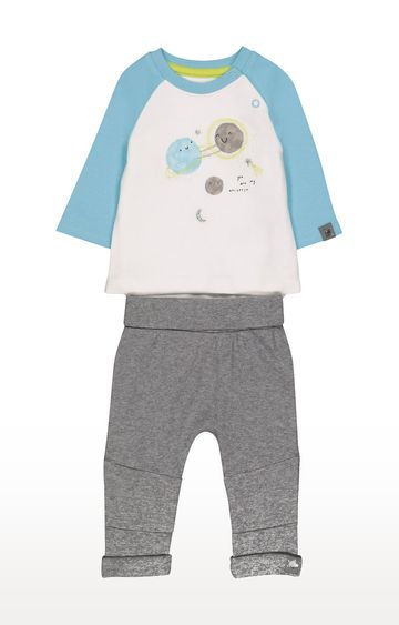 Mothercare | Space Mock T-Shirt Bodysuit And Joggers Set