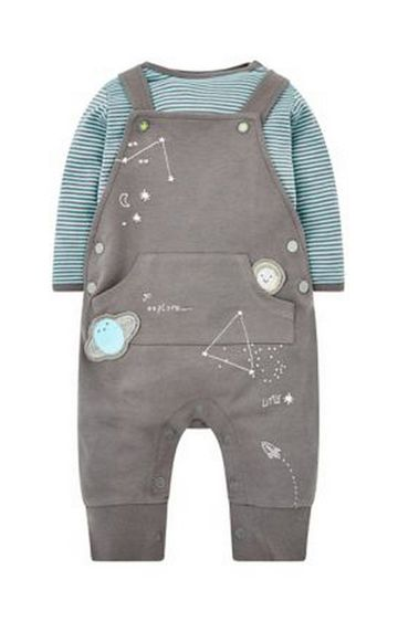 Mothercare   Little Star Dungarees And Bodysuit Set