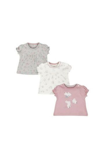 Mothercare   Pink Bunny Tops - 3 Pack