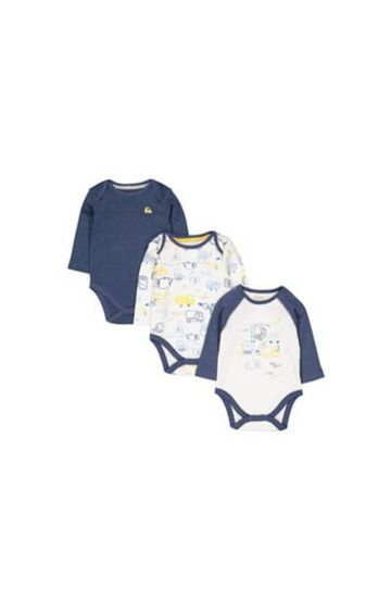 Mothercare | Little Truck Bodysuits - 3 Pack