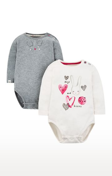 Mothercare | Bunny Heart Bodysuits - 2 Pack