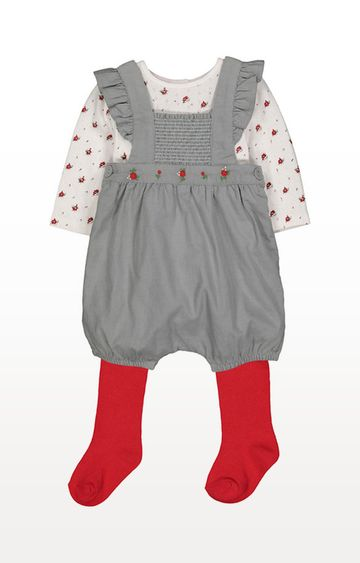 Mothercare | Rose Bibshort Set With Tights