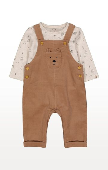 Mothercare | Cord Dungarees And Bodysuit Set