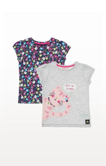 Mothercare   Let'S Be Friends Cat T-Shirts - 2 Pack