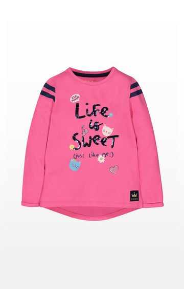 Mothercare | Pink Life Is Sweet T-Shirt