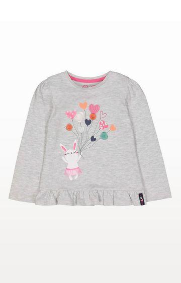Mothercare | Grey Bunny Balloon T-Shirt