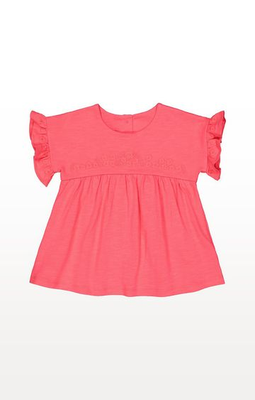 Mothercare | Embroidered Coral Jersey Blouse