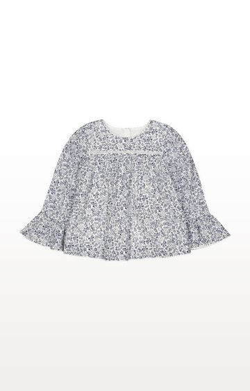 Mothercare | Ditsy Floral Bell-Sleeve Blouse