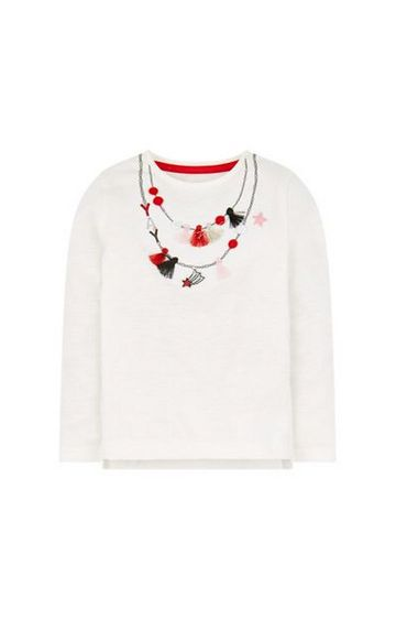 Mothercare | White Necklace T-Shirt