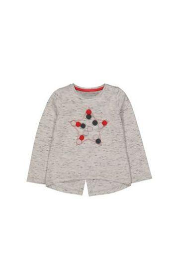 Mothercare | Grey Star Pompom T-Shirt