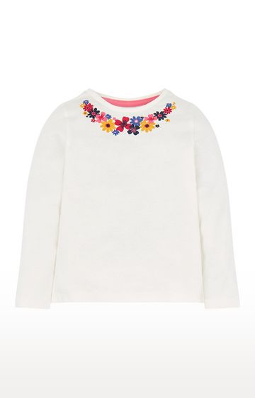 Mothercare | Floral Neck T-Shirt