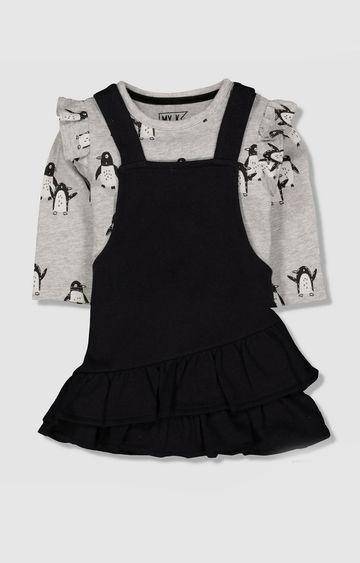 Mothercare | My K Black Pinny Dress And Bodysuit Set