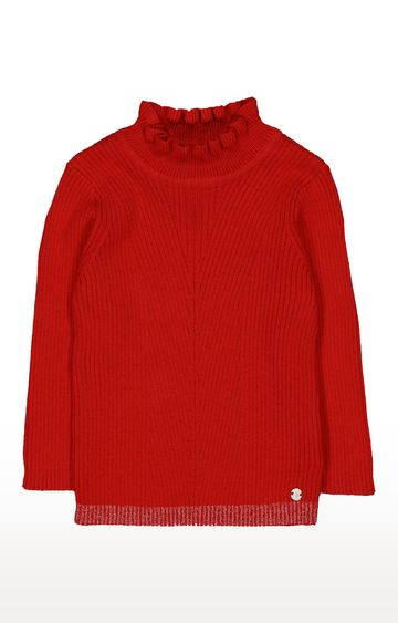 Mothercare | Red Frill Neck Top