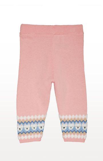 Mothercare | Pink Fairisle Knitted Leggings