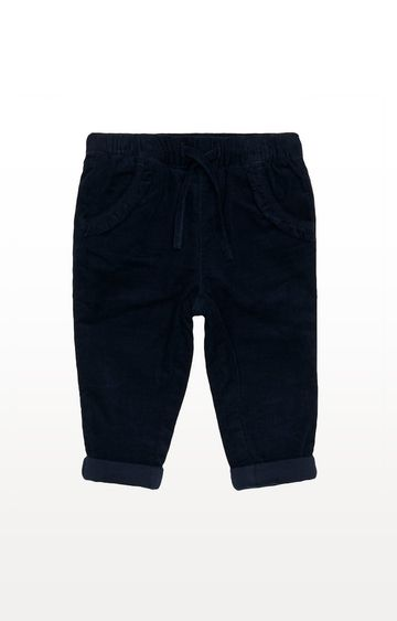 Mothercare | Navy Cord Jersey-Lined Trousers