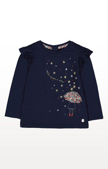 Mothercare   Heritage Navy Umbrella T-Shirt