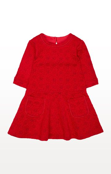 Mothercare | Red Floral Embossed Dress