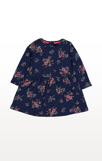 Mothercare   Blue Floral Sweater Dress