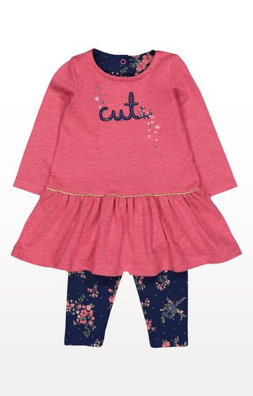 Mothercare | Pink Dress and Leggings Set