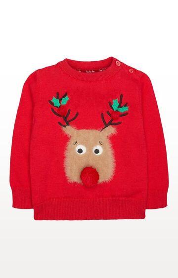 Mothercare | Red Reindeer Jumper