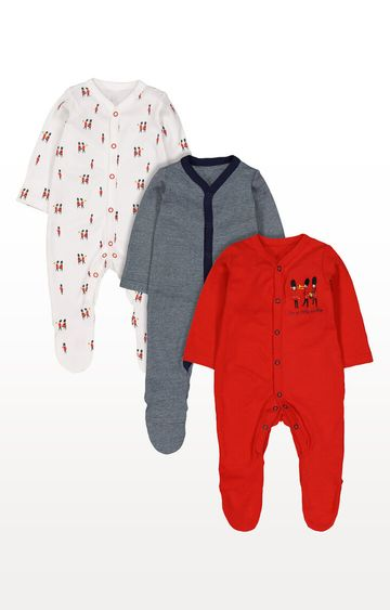 Mothercare | Little Soldier Sleepsuits - Pack of 3