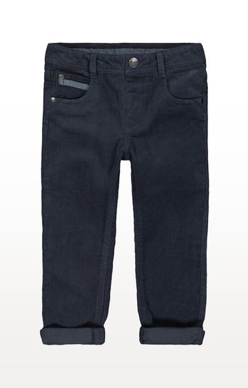 Mothercare | Grey Jersey-Lined Cord Trousers