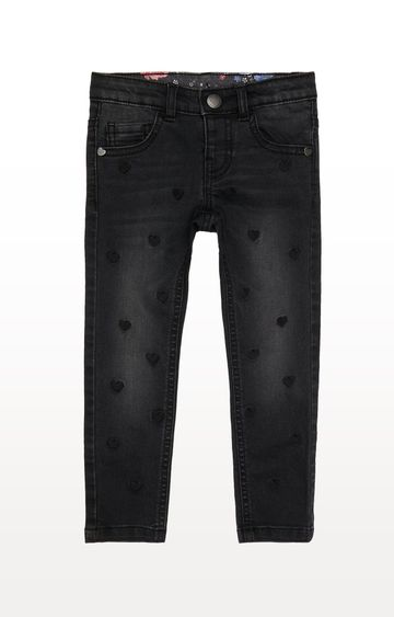 Mothercare | Denim Printed Heart Embroidered Jeans