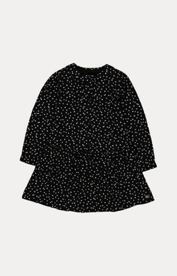 Mothercare   Black Spot Drop Waist Dress