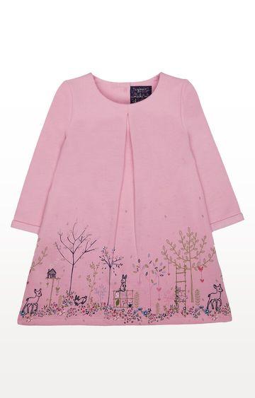 Mothercare   Pink Garden Border Sweat Dress