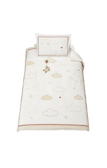 Mothercare | White Printed Quilt and Pillow Cover Set