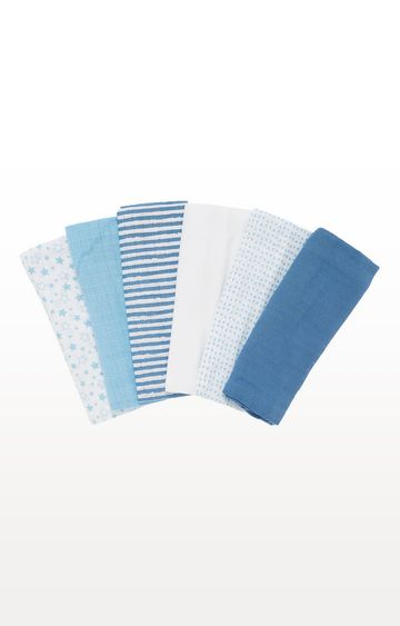 Mothercare | Patterned Muslin Cloths - Pack of 6