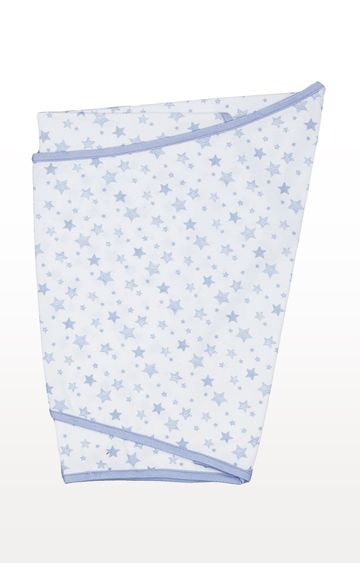 Mothercare | Blue Essential Cotton Swaddling Blanket