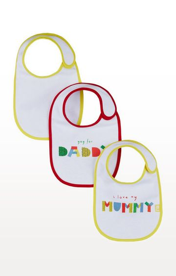 Mothercare | I Love Mummy and Daddy Newborn Bibs - Pack of 3