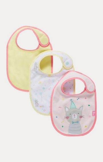 Mothercare | Yellow, White and Pink Feeding Bibs