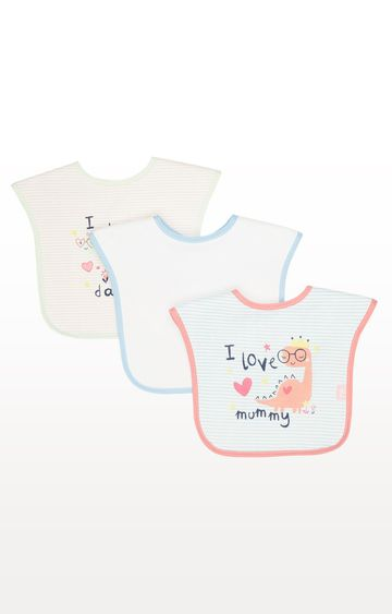 Mothercare | Pink Mummy And Daddy Weaning Bibs