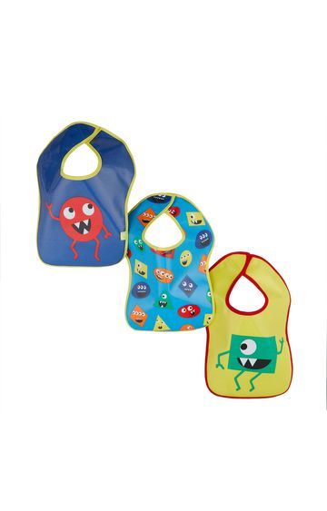 Mothercare | Monster Oil Cloth Bibs - Pack of 3