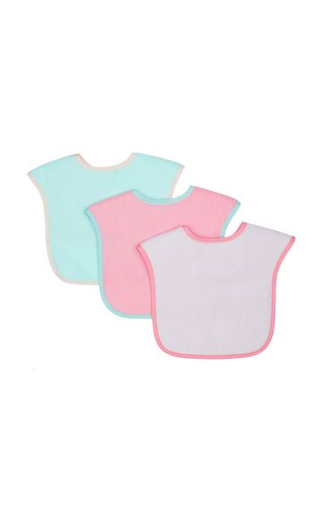 Mothercare | Colour-Block Towelling Bibs - Pack of 3