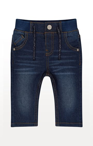 Mothercare   Dark-Wash Rib Waist Jeans