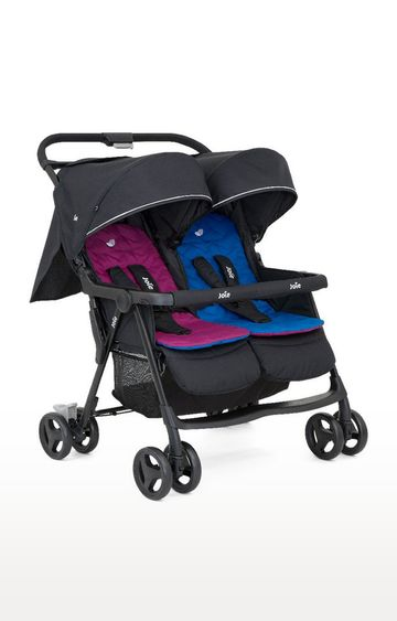 Mothercare   Pink and Blue Aire Twin Stroller
