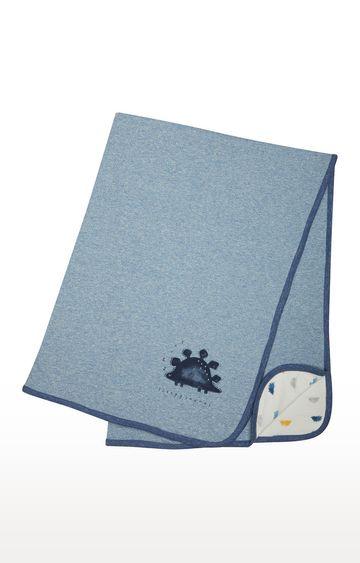 Mothercare | Blue Melange Hooded Towel