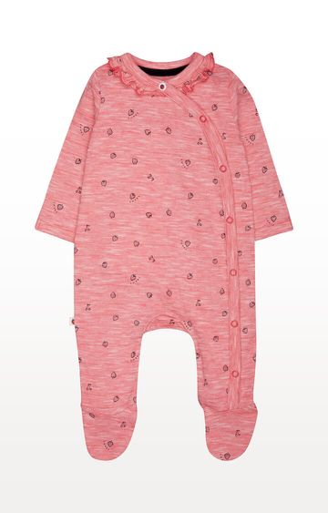 Mothercare | Striped Strawberry All In One