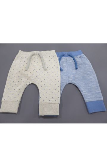 Mothercare   Grey and Blue Printed Joggers - Pack of 2