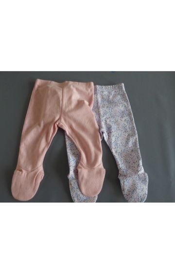 Mothercare | Peach and Blue Printed Trousers - Pack of 2